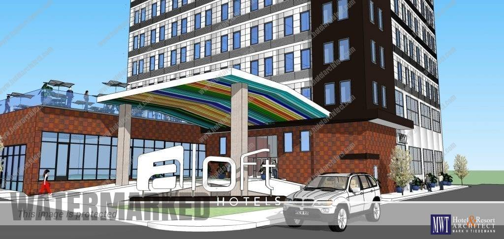 Aloft by Marriott Entrance Design