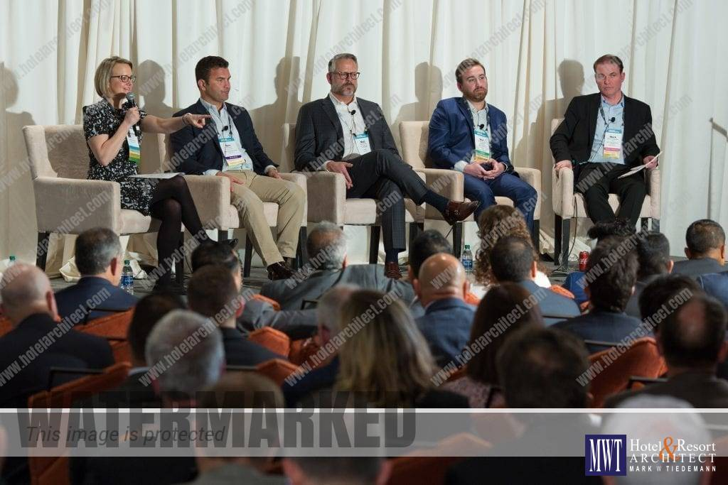 Mark W Tiedemann (far right), on Hunter Conference 2019 Panel - Hotel Development